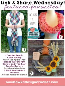 Free Crochet Patterns: Cowls, Sunflowers and Color Pooling Scarves!