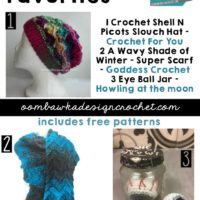 Features this week free patterns include Slouch Hat, Super Scarf and Eyeballs!