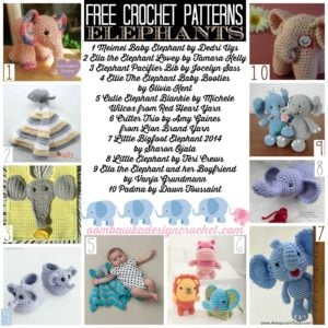 A Score of Free Crochet Elephant Patterns