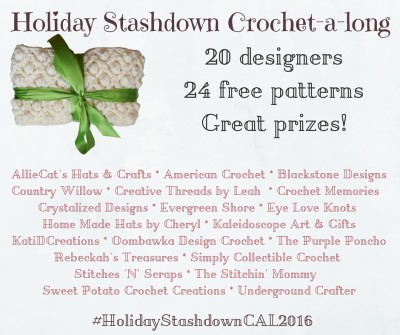 Announcing the Holiday Stashdown crochet-a-long 2016! #HolidayStashdownCAL2016