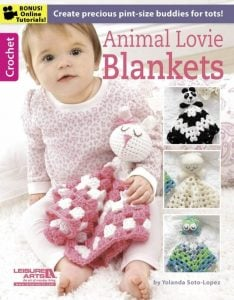 Animal Lovie Blankets Book Review Leisure Arts - by Oombawka Design
