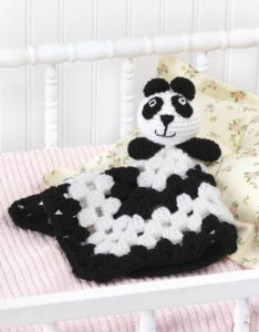 Panda - Animal Lovie Blankets - Leisure Arts