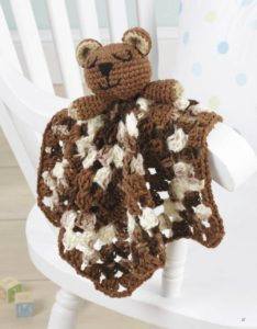 Brown Bear - Animal Lovie Blankets - Leisure Arts