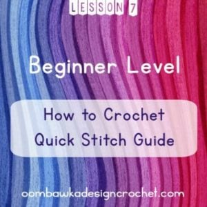 Beginner Crochet: Lesson 7: Learn to Crochet Quick Stitch Guide