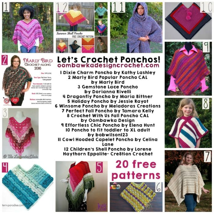 Let's Crochet Ponchos! 20 Free Patterns