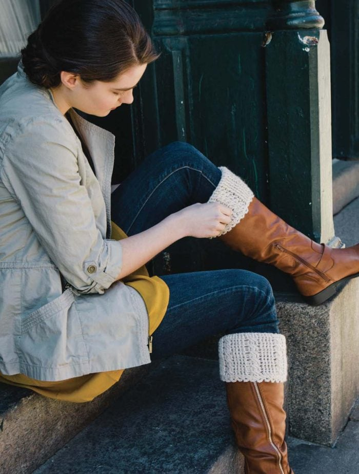 Cabled Boot Cuffs - Approved Excerpt from Celtic Cable Crochet