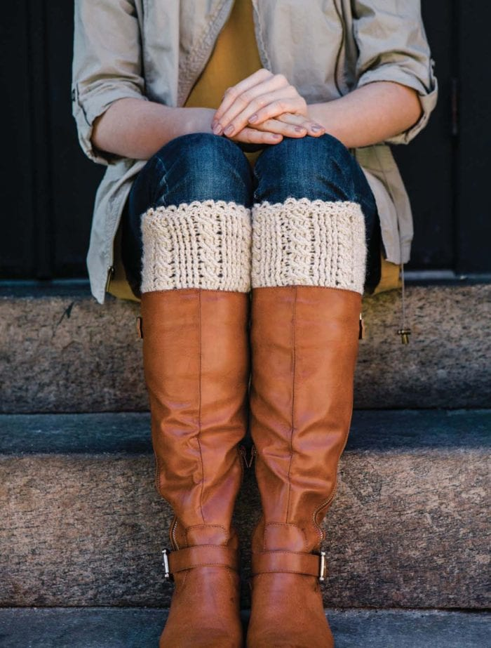 Approved Excerpt from Celtic Cable Crochet - Cabled Boot Cuffs
