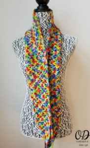 Rainbow Pebbles Infinity Scarf Free Pattern Oombawka Design 1