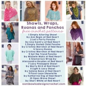 10 Free Patterns for Shawls, Wraps, Ruanas and Ponchos