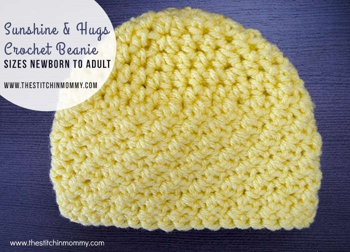 Hat Box Foundation - Charity of the Month - October Crochet a Sunshine & Hugs Crochet Beanie to donate to this month's featured charity!