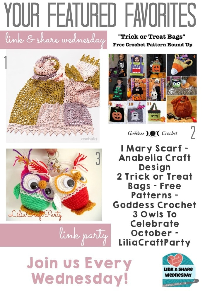 All about crochet Link and Share Wednesday Link Party