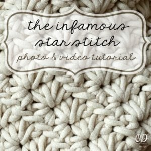 Infamous Star Stitch Photo and Video Tutorial Oombawka Design