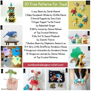 20 Free Patterns for Toys!