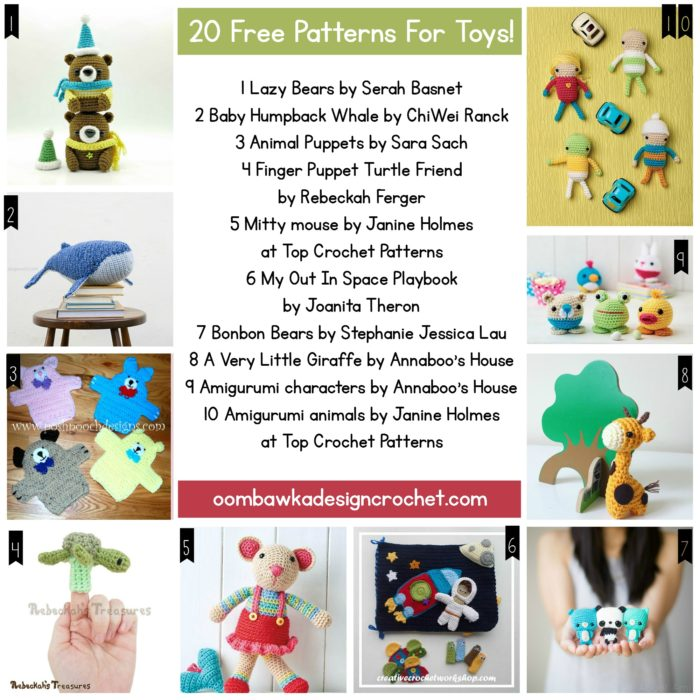 20 Free Patterns For Toys
