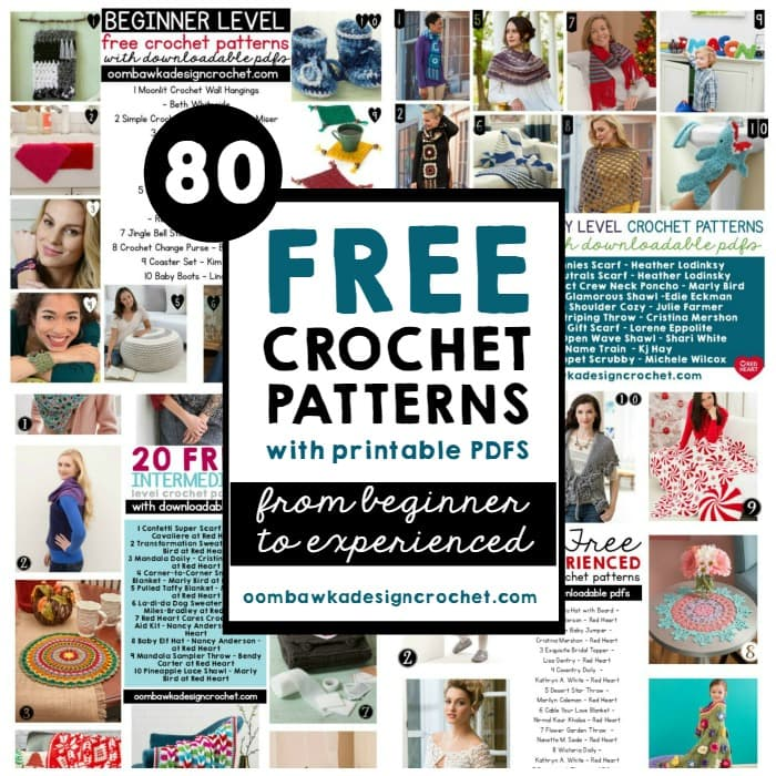 Free Online Printable Crochet Patterns : 80 Free Printable Crochet Patterns Oombawka Design Crochet