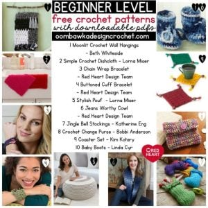 BEGINNER Crochet Patterns with downloadable PDFS