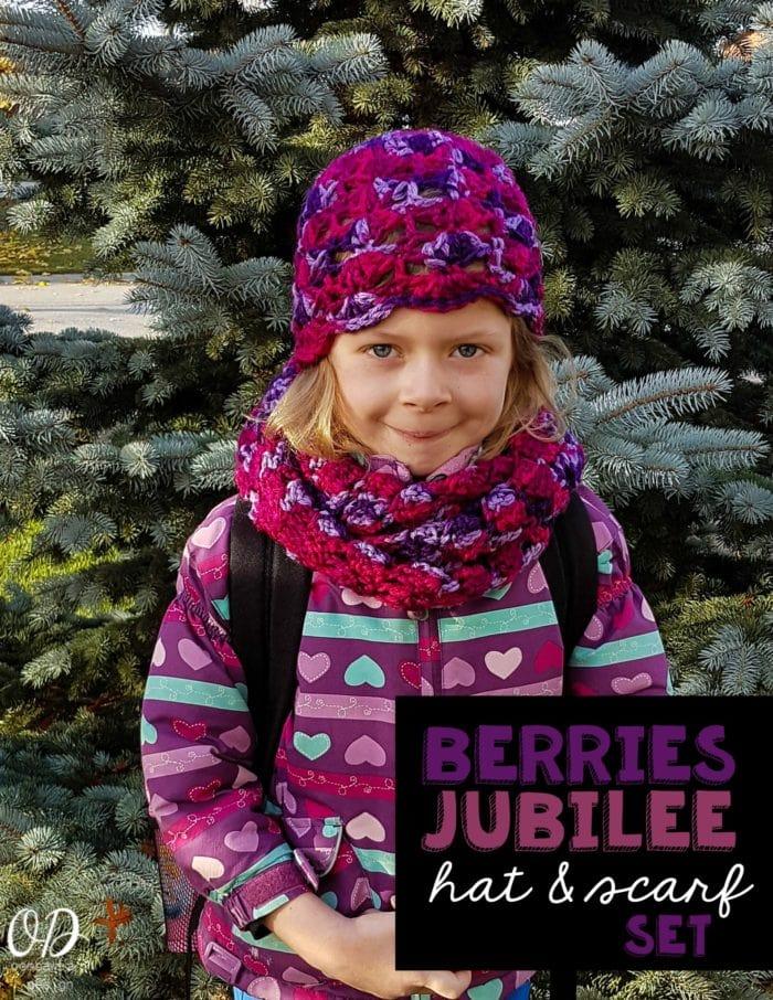BERRIES JUBILEE HAT AND SCARF SET OOMBAWKA DESIGN CROCHET FREE PATTERN