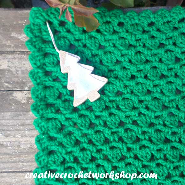 Christmas Tree Inspired Washcloth - Creative Crochet Workshop Guest Post 2