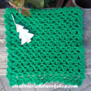 Christmas Tree Inspired Washcloth - Creative Crochet Workshop Guest Post 5