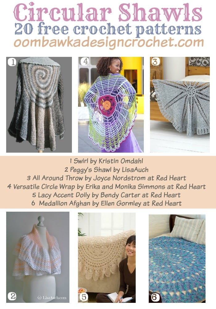20 Free Crochet Patterns For Circular Shawls Oombawka Design Crochet