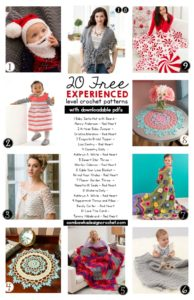 20 Free EXPERIENCED Level Crochet Patterns