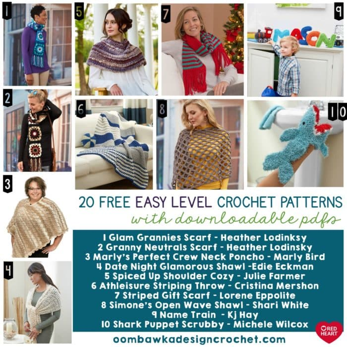 Easy Level Crochet Patterns with Downloadable PDFs