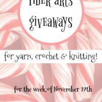 Fiber Arts Giveaways for the Week of November 27
