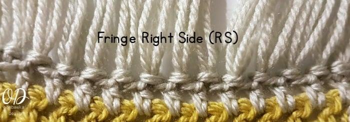 Fringe Right Side Unisex Winter Scarf Fringe