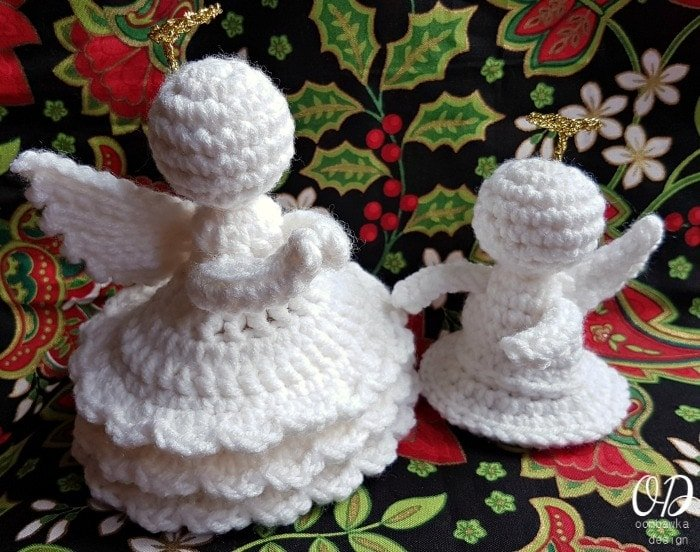 Little Crochet Angel with Joyful Crochet Angel
