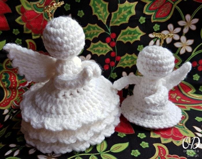 Little Crochet Angel with Joyful Crochet Angel