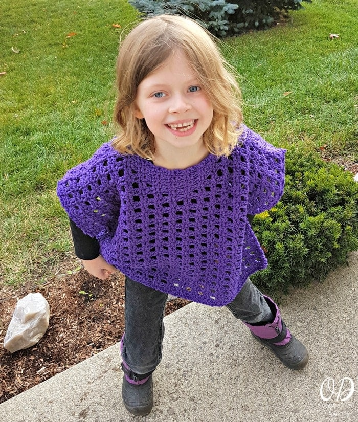 Simply Stated Child Poncho - Oombawka Design