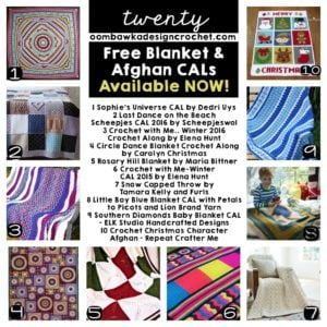 20 Free Blanket and Afghan CALs Available Now!