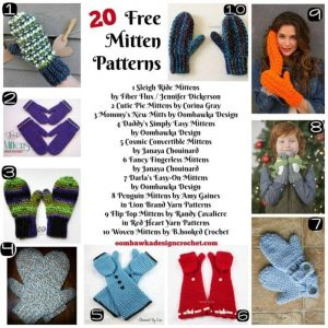 20 Free Mitten Patterns - Free Pattern Friday - Oombawka Design