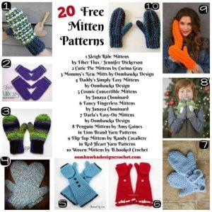 20 Free Mitten Patterns - Free Pattern Friday - Oombawka Design