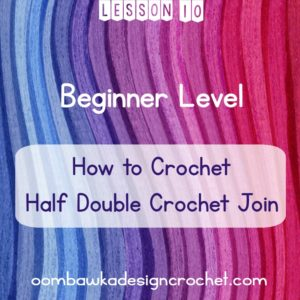Beginner Level: Lesson 10: Half Double Crochet Join