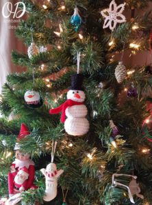 Crochet Snowman Ornament Oombawka Design