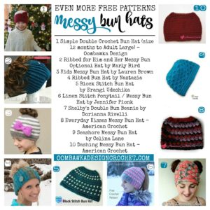 Even More Free Patterns for Messy Bun Hats