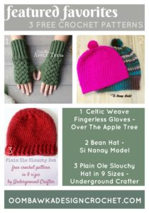FEATURED FAVORITES - 3 Free Crochet Patterns