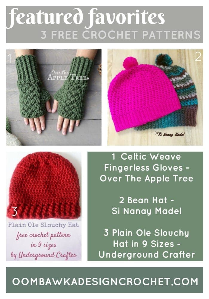 Link and Share Wednesday Featured Favorites 3 Free Crochet Patterns for You To Choose From This Week!