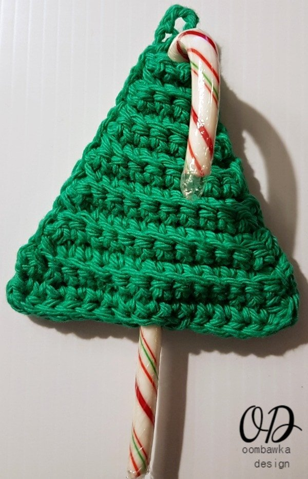 Last minute christmas tree candy cane holders oombawka for Candy cane crafts for adults