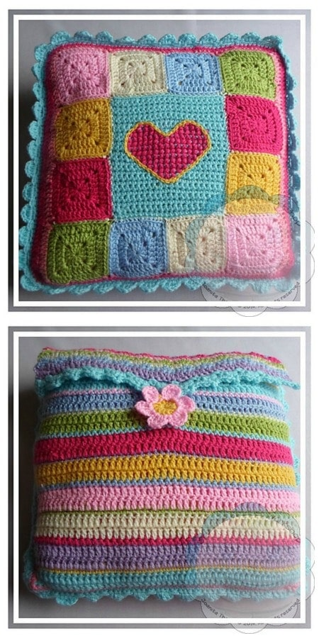 January #CALOFTHEMONTH2017 Pillow Project Front and Back