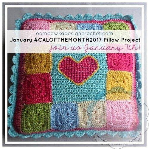 January #CALOFTHEMONTH2017 Pillow Project! Crochet With Us Starting January 7th!