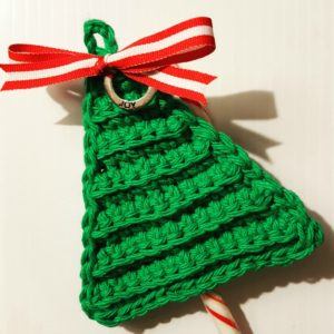 Last Minute Christmas Tree Candy Cane Holders
