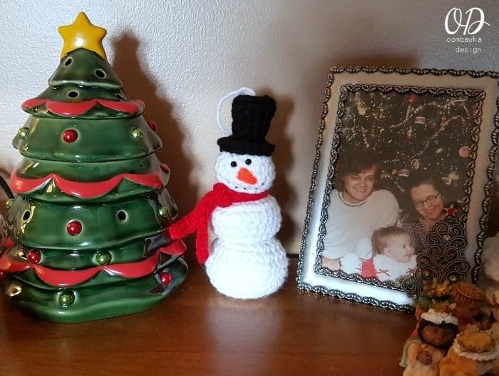 Little Snowman Ornament Oombawka Design Crochet