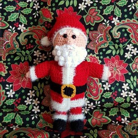 Santa Crochet Pattern - Oombawka Design - #12WeeksChristmasCAL