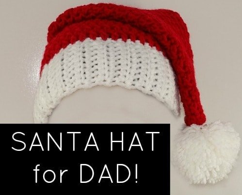 Santa Hat For Dad! Santa Hat Pattern now available in Adult Large Size.