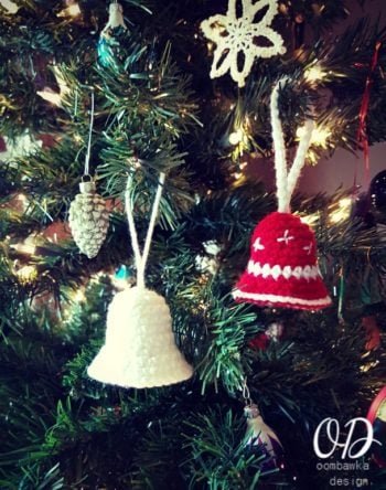 Simple Christmas Bell Pattern Oombawka Design