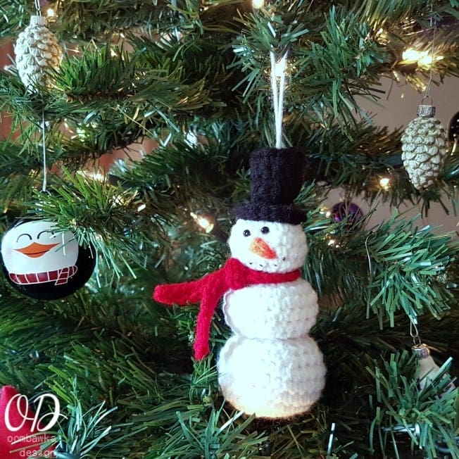 Snowman Ornament Oombawka Design Crochet