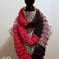 Super Easy Striped Colorblock Scarf