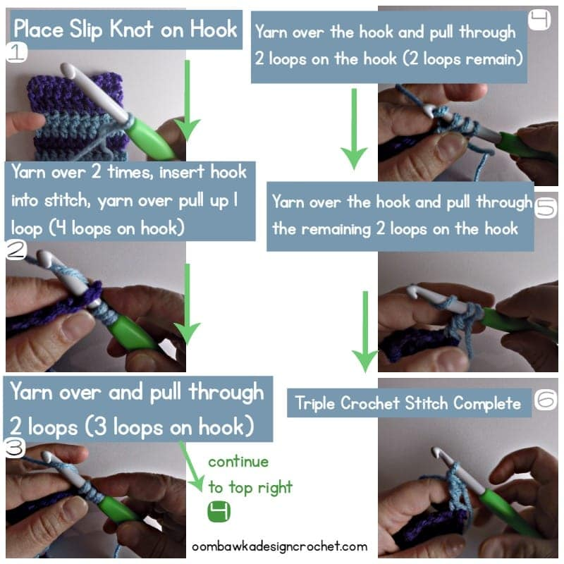 How To Join New Yarn with A Triple Crochet Stitch